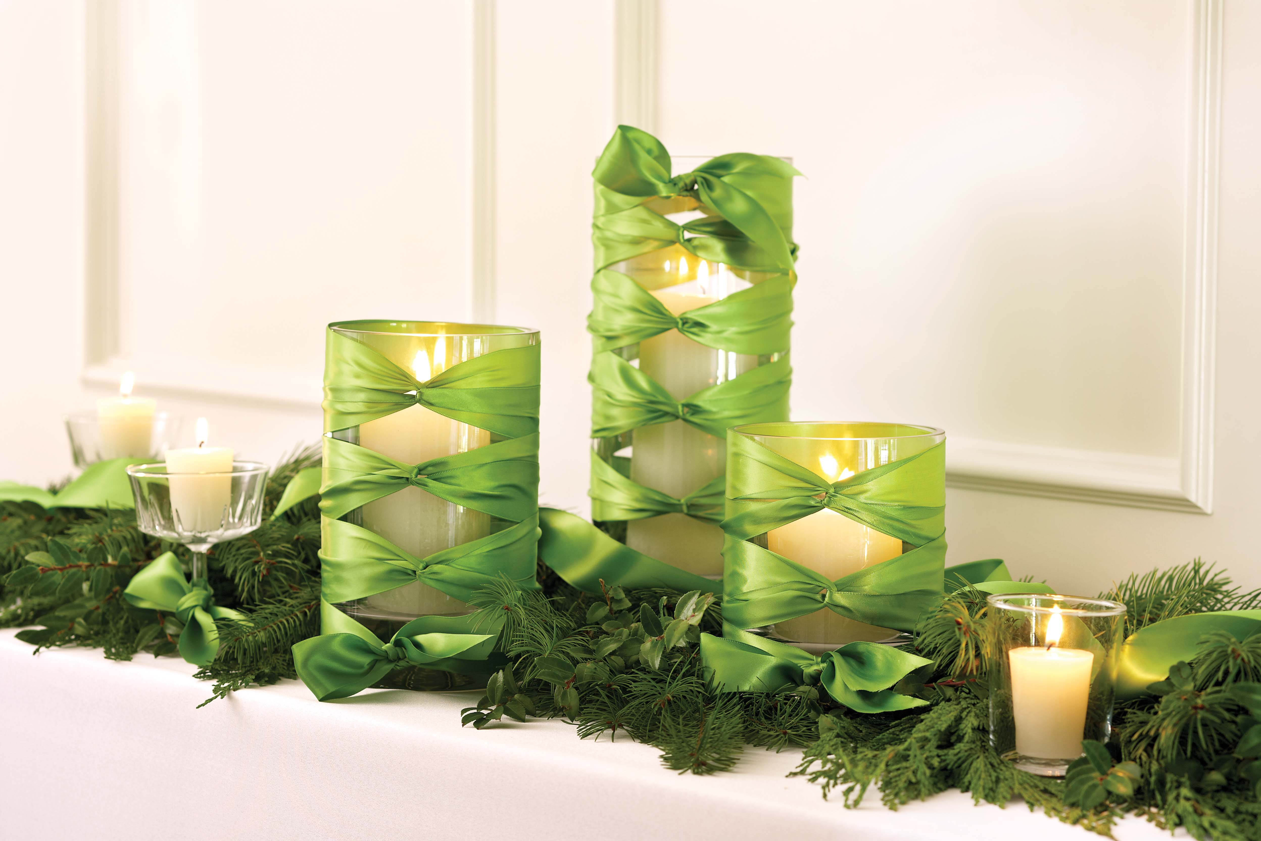 Decorations Beauty Green Candle Holders